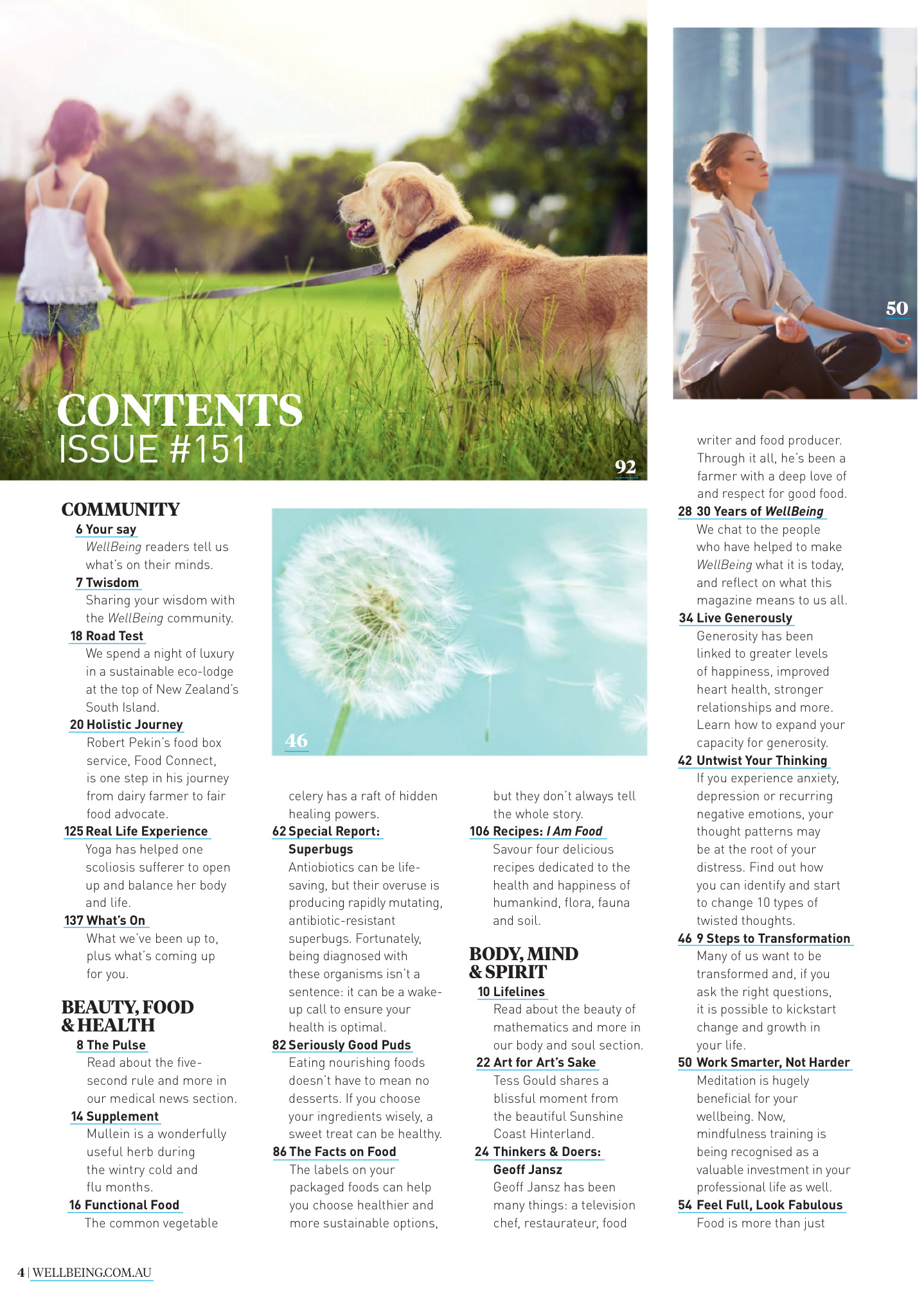 wellbeing contents